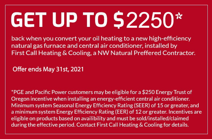 Special Offers on HVAC Services at First Call Heating & Cooling in Portland